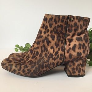 Sam and Libby size 7.5 leopard booties